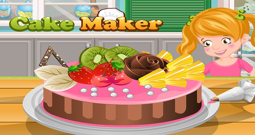Cake Maker - Make your own recipe and make bake and decorate your cake in this cooking academy