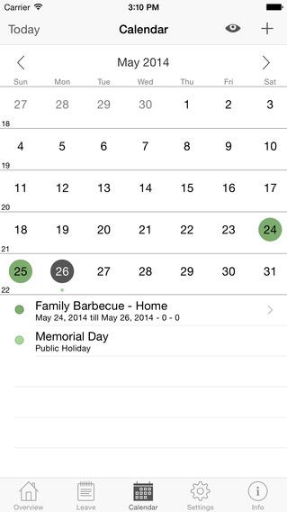 Annual Leave iPhone Screenshot 3