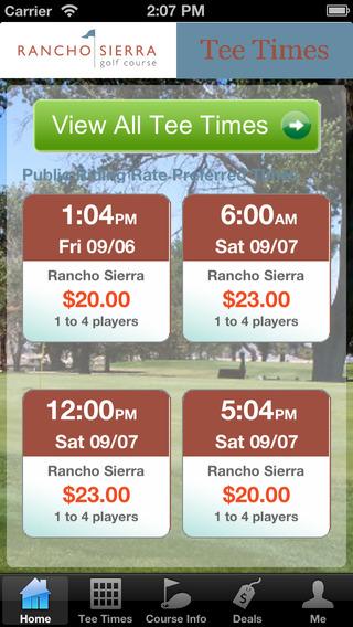 Rancho Sierra Golf Tee Times