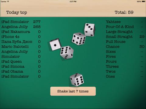 Dice 5 iPad Screenshot 1