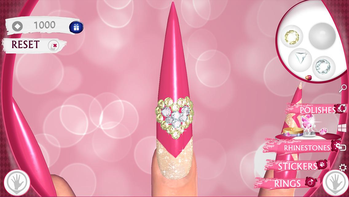App shopper cute nail art designs game 3d beauty and for 3d beauty salon games