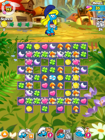 Smurfette's Magic Match Screenshots