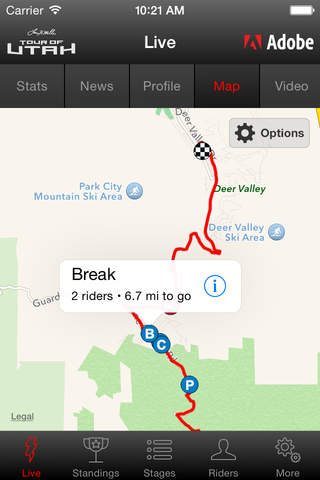 2017 Tour of Utah Tour Tracker powered by Adobe screenshot 4