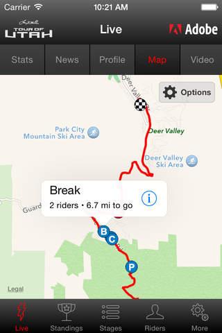 2017 Tour of Utah Tour Tracker powered by Adobe screenshot 4