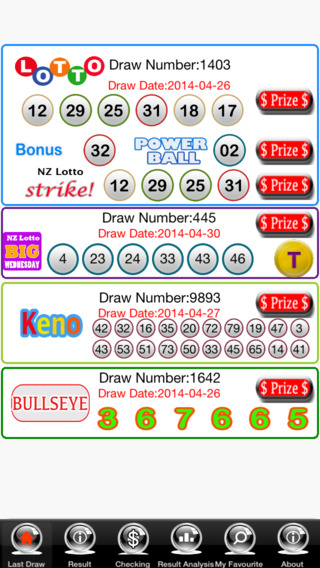 Lotto PowerBall BigsWednesday Keno Free