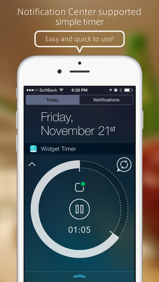 Widget Timer - Simple Kitchen Timer for Notification Center