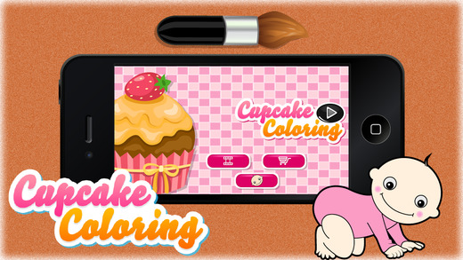 Cupcake Coloring - Learn Free Amazing HD Paint Educational Activities for Toddlers Pre School Kinder