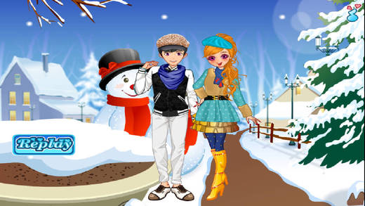 Winter Couple Love