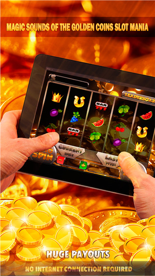 Magic Sounds of the Golden Coins Slot Mania - FREE Slot Game Spin for Win