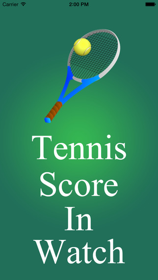 Tennis Score in Watch