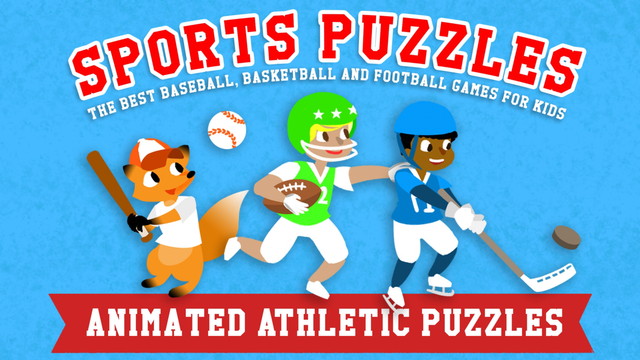 Sports Puzzles for Kids - The Best Baseball Basketball Soccer and Football Games with Boys Girls and