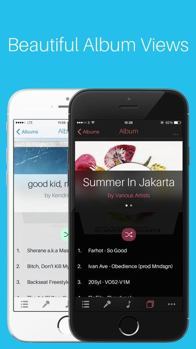Mezzo - Music Player for iPhone Screenshot