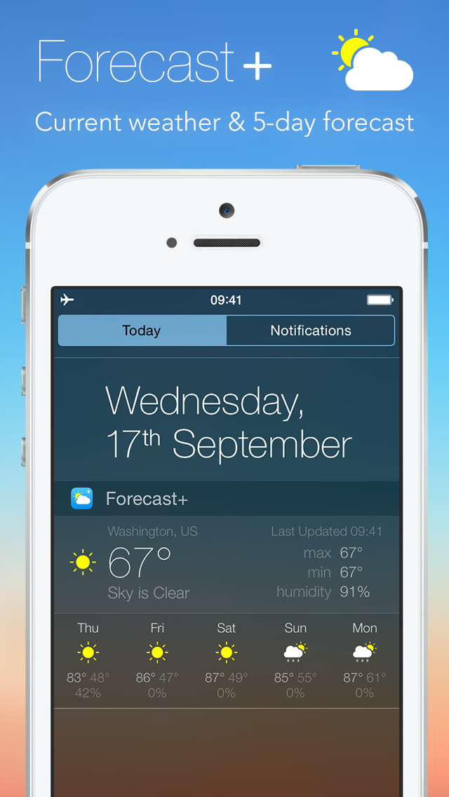 Forecast plus | Weather & Forecast Widget screenshot 1
