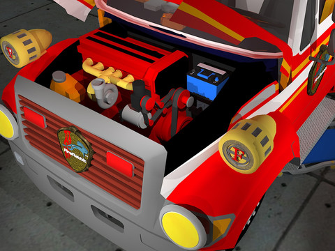 Fix My Truck: Red Fire Engine screenshot 5