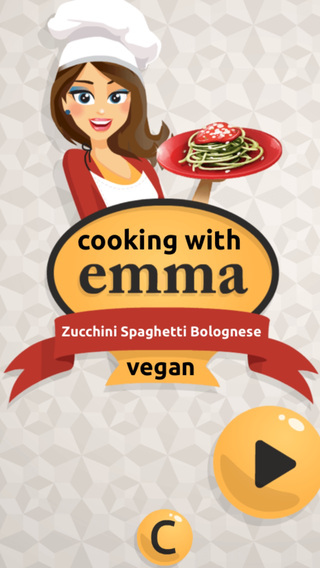 Zucchini Spaghetti Bolognese - Vegan Cooking Recipe with Emma: Game for Kids