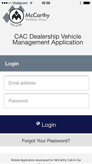 McCarthy Call-a-Car Dealer App