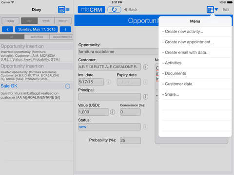 myCRM for iPad iPad Screenshot 3