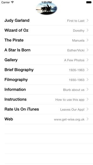Judy Garland Sound Board iPhone Screenshot 3