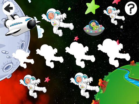 Активный! Сортировать По Размеру Игра Для Детей, Чтобы Учиться И Играть С Космонавтами В Космосе