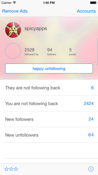unfollow - for Instagram photo sharing community