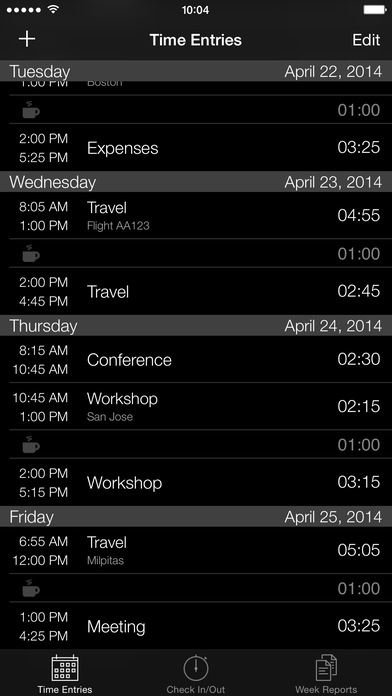 Week Timer iPhone Screenshot 3