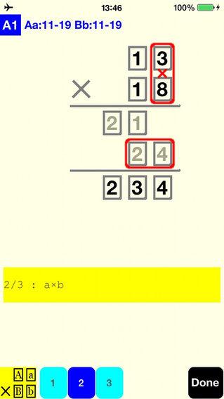 2 Digit Multiplication Lite iPhone Screenshot 2