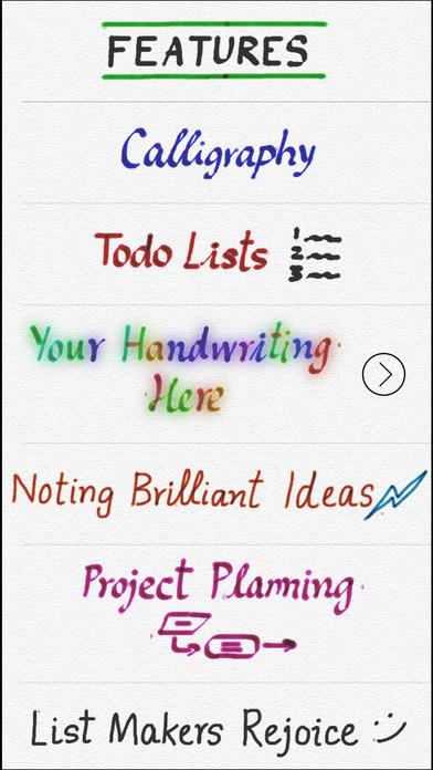 Use Your Handwriting iPhone Screenshot 1