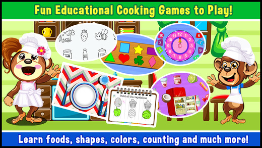 Preschool Educational Zoo Kitchen Games for Toddle