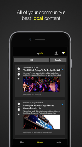 Qork - share and discover local content