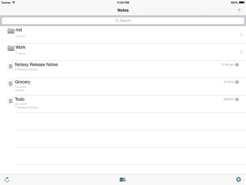 Notesy for Dropbox iPad Screenshot 1