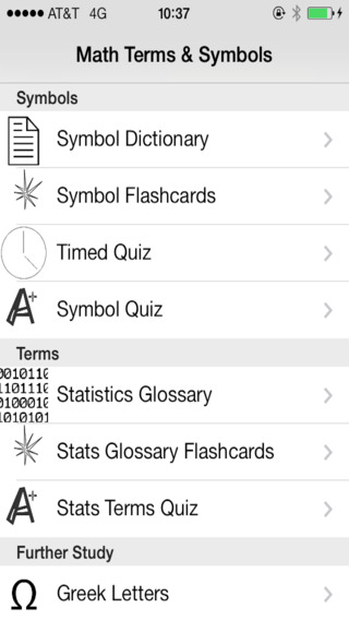 Math Symbols and Terms