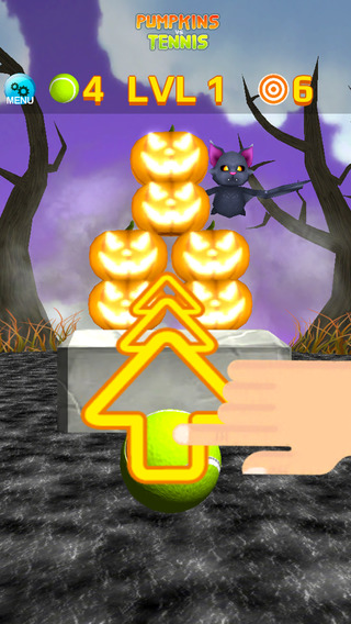 Pumpkin vs Tennis - Halloween Game