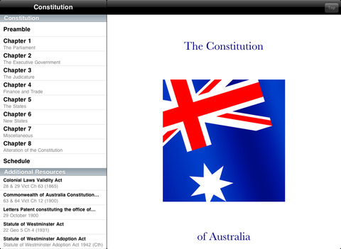 Constitution iPad Screenshot 1