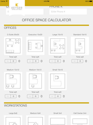 Keyser Office Space Calculator On The App Store