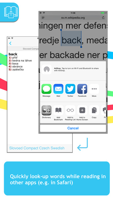 Swedish <-> Czech SlovoEd Compact Dictionary iPhone Screenshot 3