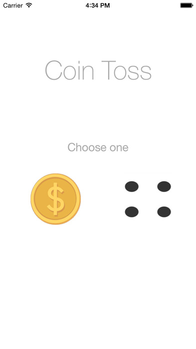 Odds: Coin Toss & Dice Roller For Apple Watch - Heads or Tails Coin Flipping & Dice Roll iPhone Screenshot 1
