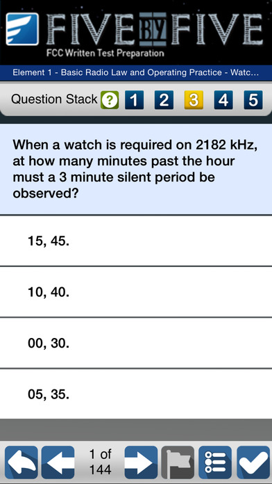 Five by Five Commercial FCC Written Test Prep iPhone Screenshot 4
