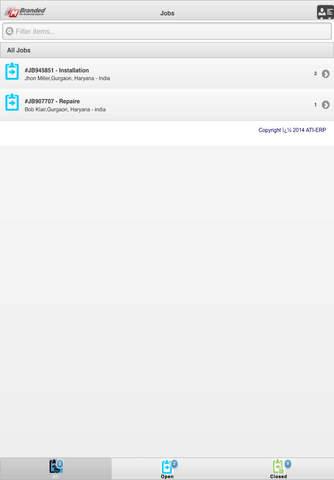 Screenshot of ATI Field Service