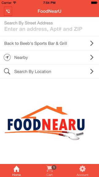 Food Near U – Restaurant Pickup Delivery Order App