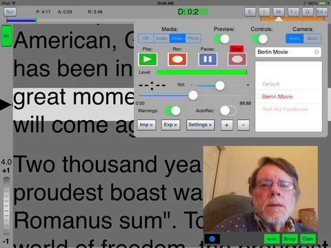 iQPrompter iPad Screenshot 1