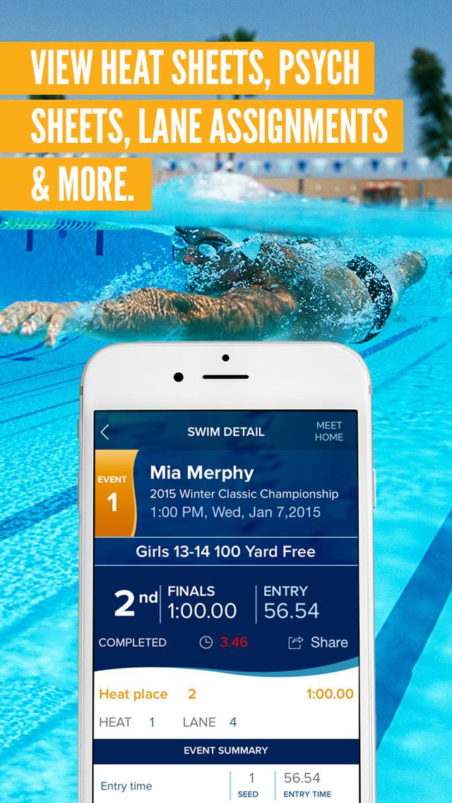 swim meet app for windows phone