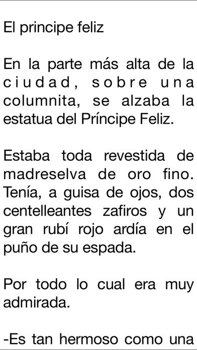 Cuentos de Oscar Wilde iPhone Screenshot 3