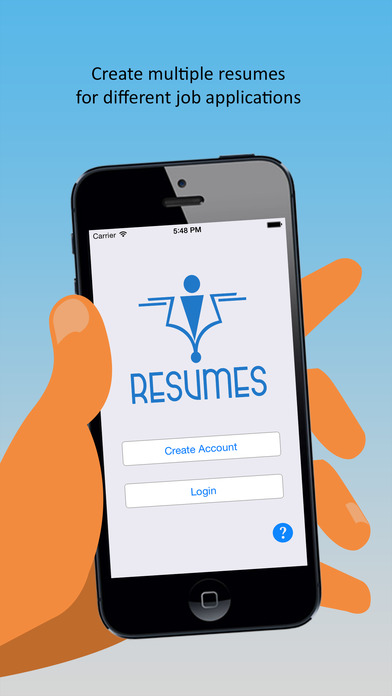 IResumes  Pro Resume Builder And Designer On The App Store - Mobile resume builder