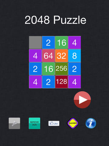 2048 - Exciting Math Board (2048,4096, 5*5) Puzzle Gamescreeshot 1