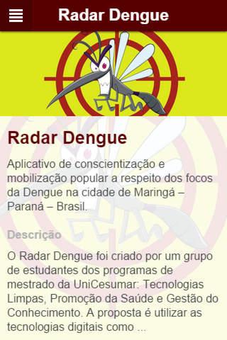 Radar Dengue screenshot 1