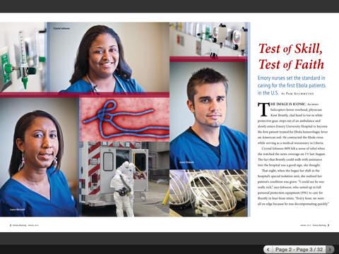 Emory Health Magazines iPad Screenshot 1