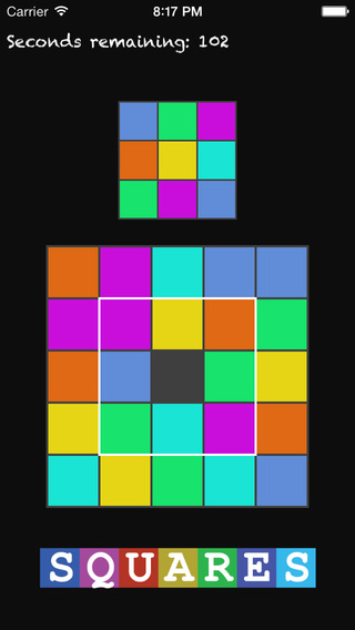 Squares - a fun tile pattern matching game