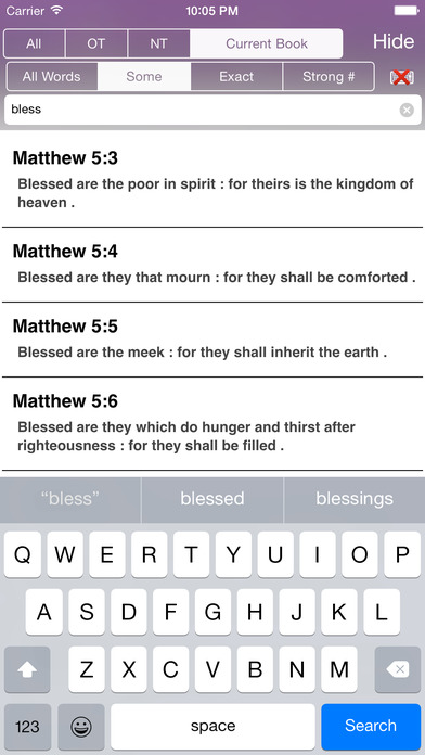 Touch Bible (KJV) iPhone Screenshot 2