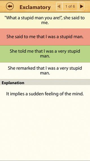 Grammar Express: Reported Speech Lite iPhone Screenshot 4