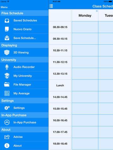Screenshots for Class Schedule